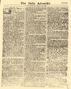 Daily Advertiser, April 29, 1749, Page 1