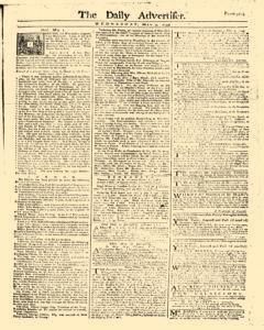 Daily Advertiser, May 03, 1749, Page 1