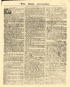 Daily Advertiser, May 23, 1749, Page 1