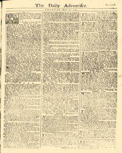 Daily Advertiser, May 30, 1749, Page 1