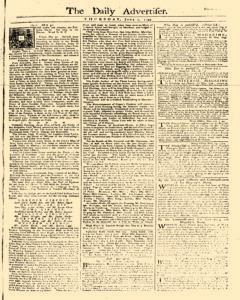 Daily Advertiser, June 01, 1749, Page 1