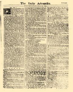 Daily Advertiser, June 14, 1749, Page 1