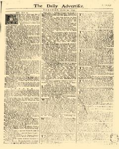Daily Advertiser, June 20, 1749, Page 1