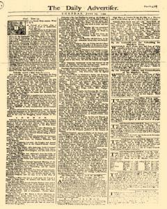 Daily Advertiser, June 27, 1749, Page 1