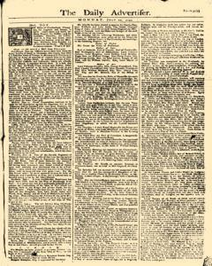 Daily Advertiser, July 10, 1749, Page 1
