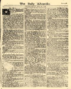 Daily Advertiser, July 13, 1749, Page 1