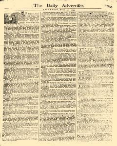 Daily Advertiser, July 25, 1749, Page 1