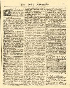 Daily Advertiser, August 12, 1749, Page 1