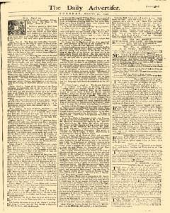 Daily Advertiser, August 22, 1749, Page 1