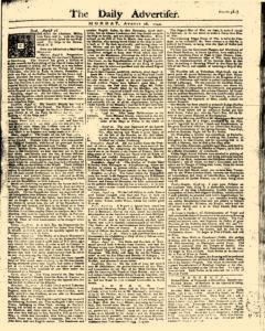 Daily Advertiser, August 28, 1749, Page 1