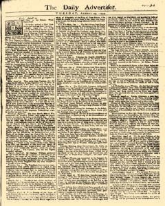 Daily Advertiser, August 29, 1749, Page 1