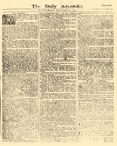 Daily Advertiser, September 05, 1749, Page 1
