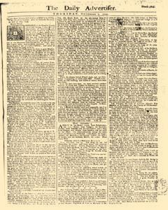 Daily Advertiser, September 07, 1749, Page 1