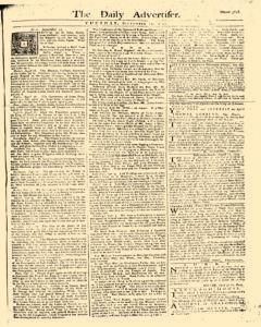 Daily Advertiser, September 12, 1749, Page 1