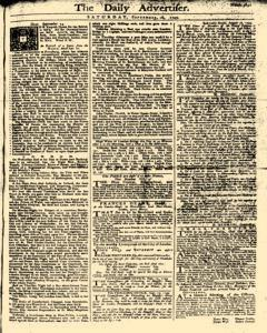 Daily Advertiser, September 16, 1749, Page 1