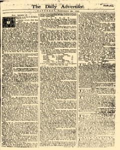 Daily Advertiser, September 30, 1749, Page 1