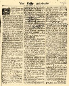 Daily Advertiser, October 02, 1749, Page 1