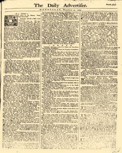 Daily Advertiser, October 04, 1749, Page 1
