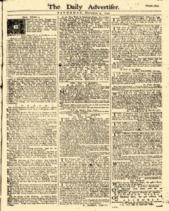 Daily Advertiser, October 07, 1749, Page 1