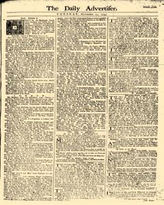 Daily Advertiser, October 10, 1749, Page 1