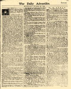 Daily Advertiser, October 16, 1749, Page 1