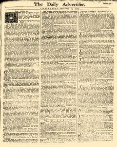 Daily Advertiser, October 19, 1749, Page 1