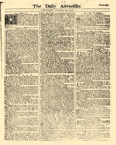 Daily Advertiser, October 20, 1749, Page 1