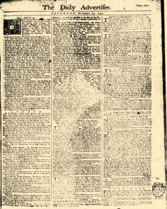 Daily Advertiser, October 21, 1749, Page 1