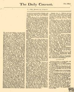 Daily Courant, January 17, 1730, Page 1