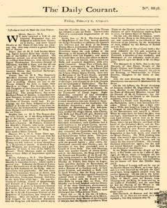 Daily Courant, February 06, 1730, Page 1