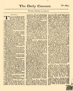 Daily Courant, February 14, 1730, Page 1