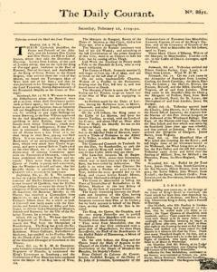 Daily Courant, February 21, 1730, Page 1