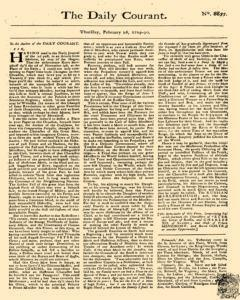 Daily Courant, February 26, 1730, Page 1