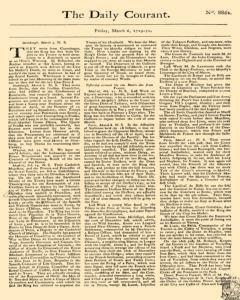 Daily Courant, March 06, 1730, Page 1