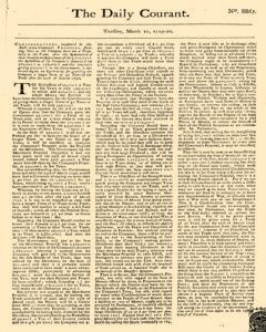 Daily Courant, March 10, 1730, Page 1