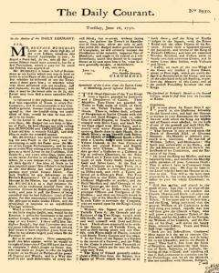 Daily Courant, June 16, 1730, Page 1