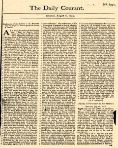 Daily Courant, August 08, 1730, Page 1