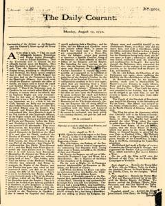 Daily Courant, August 17, 1730, Page 1
