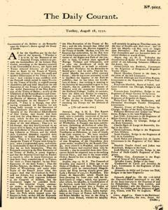 Daily Courant, August 18, 1730, Page 1