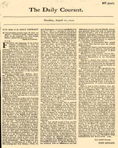 Daily Courant, August 20, 1730, Page 1