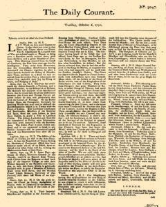 Daily Courant, October 06, 1730, Page 1