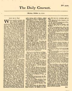 Daily Courant, October 12, 1730, Page 1