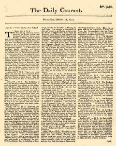 Daily Courant, October 21, 1730, Page 1