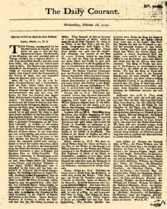 Daily Courant, October 28, 1730, Page 1
