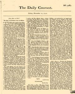 Daily Courant, November 13, 1730, Page 1