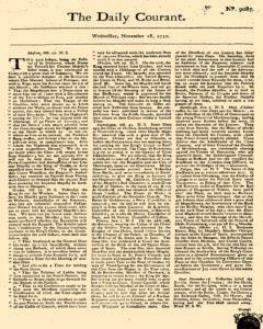 Daily Courant, November 18, 1730, Page 1