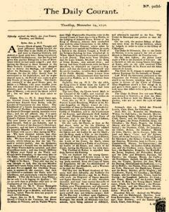 Daily Courant, November 19, 1730, Page 1