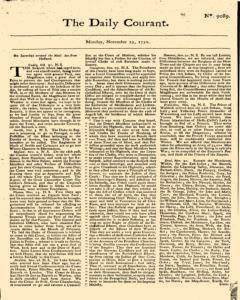 Daily Courant, November 23, 1730, Page 1