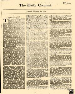 Daily Courant, November 24, 1730, Page 1
