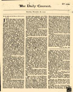 Daily Courant, November 28, 1730, Page 1